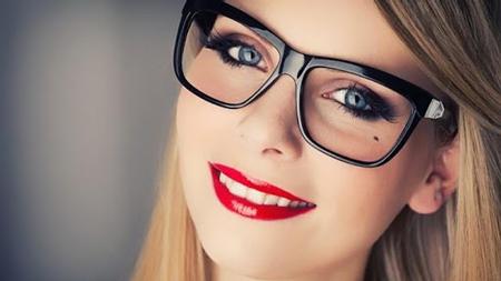 آرایش چشم با عینک,آرایش چشم, آرایش چشم زیبا