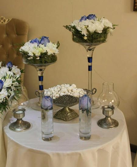 گل آرایی میز نامزدی, چیدمان میز نامزدی ساده