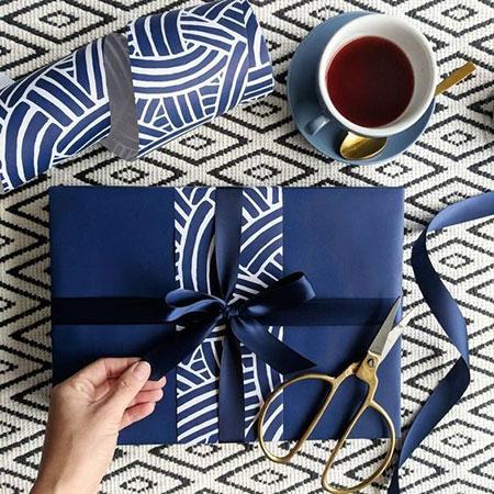 ایده برای تزیین هدایا,تزیین پاپیون هدیه