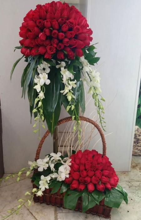 تزیین دسته گل خواستگاری,زیباترین گل های خواستگاری