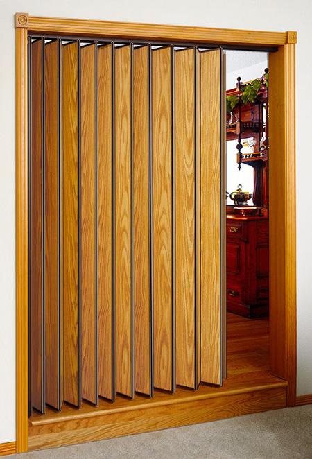 درب آکاردئونی چوبی, درب آکاردئونی شیشه ای