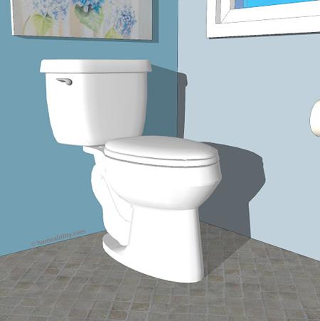 انواع توالت فرنگی های کم جا,مدل های انواع توالت فرنگی