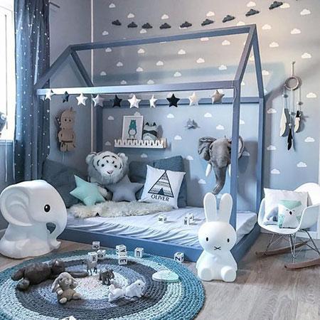 طراحی سرویس خواب نوزادی, سرویس خواب نوزاد پسرانه