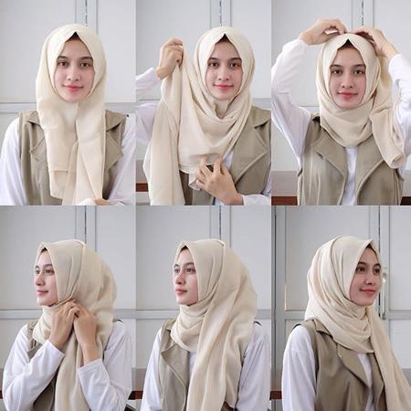 آموزش بستن روسری لبنانی, آموزش تصویری بستن روسری لبنانی