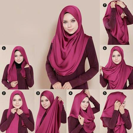 تصاویر بستن شال و روسری, بستن شال و روسری عربی