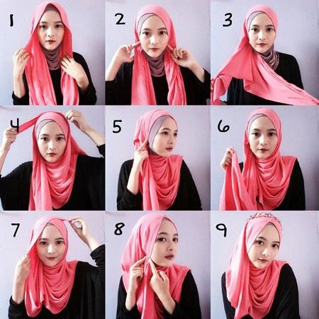 نحوه بستن شال و روسری, روش های بستن شال و روسری