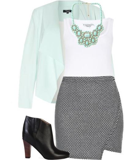 coats1 skirts2 obese8 مدل کت و دامن برای افراد چاق