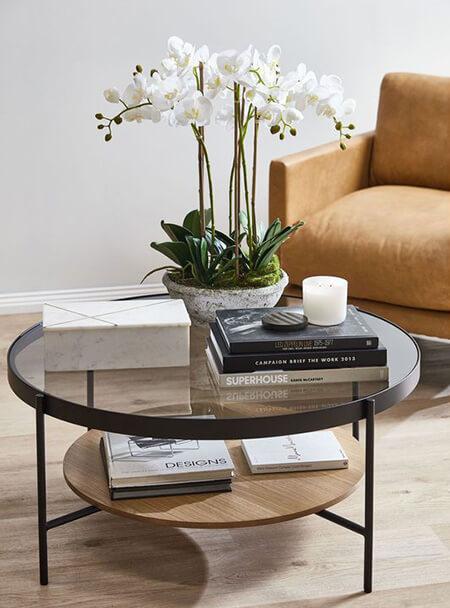 شیک ترین مدل های میز قهوه خوری, میز قهوه خوری چوبی, میز قهوه خوری پایه فلزی