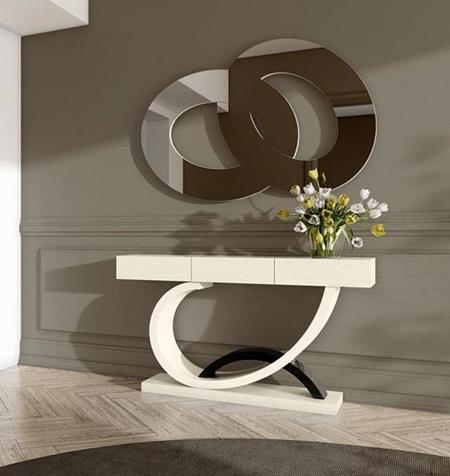 جدیدترین طراحی آینه کنسول, آینه کنسول چوبی