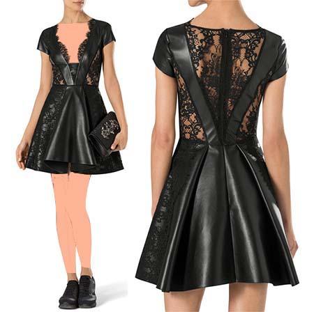 عکس مدل لباس مجلسی چرم دخترانه,لباس مجلسی چرم شیک, عکس های زیبا از مدل لباس مجلسی چرم