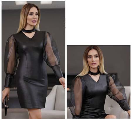 مدل لباس مجلسی چرم, مدل لباس مجلسی چرم شیک, لباس مجلسی چرم