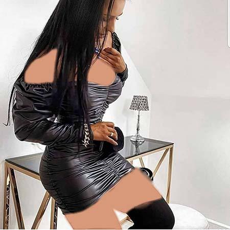 مدل لباس مجلسی چرم با گیپور, لباس مجلسی چرم زنانه, عکس مدل لباس مجلسی چرم دخترانه