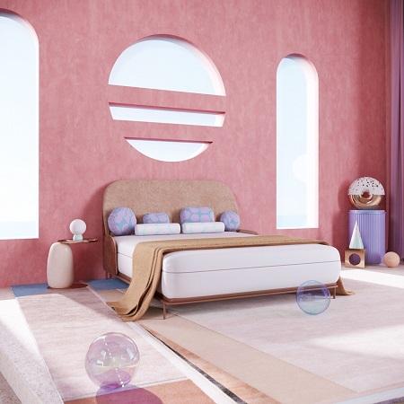 رنگ اتاق خواب صورتی کمرنگ, دکوراسیون اتاق خواب دخترانه ساده و شیک, اتاق خواب صورتی دخترانه