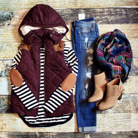 لباس گرم طرح دار,مدل لباس راه راه