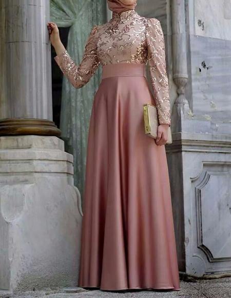 لباس مجلسی بلند,مدل لباس مجلسی پوشیده