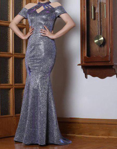 fashion1 model dress17 شیک ترین لباس های شب از جنس لمه