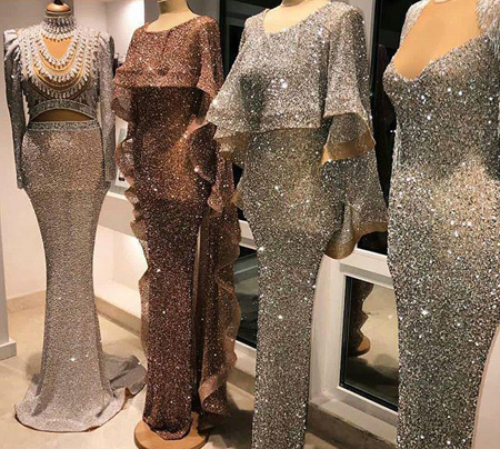 fashion1 model dress19 شیک ترین لباس های شب از جنس لمه