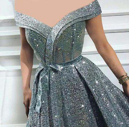 fashion1 model dress25 شیک ترین لباس های شب از جنس لمه