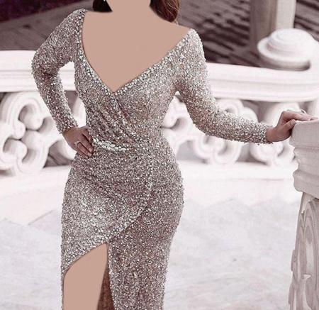 fashion1 model dress26 شیک ترین لباس های شب از جنس لمه
