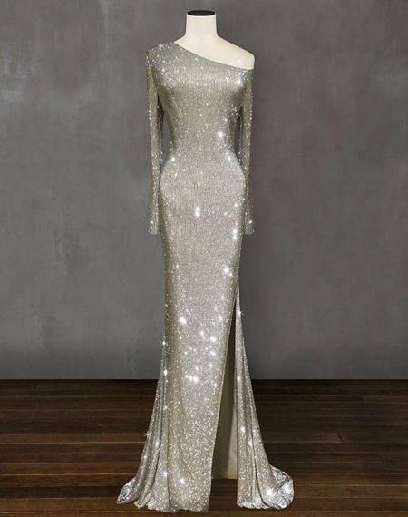 fashion1 model dress28 شیک ترین لباس های شب از جنس لمه