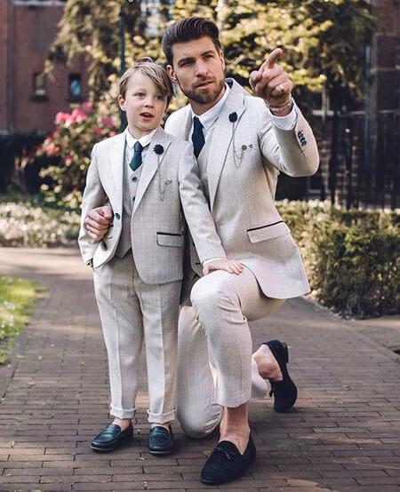 father1 son2 set13 مدل های شیک ست پدر و پسر