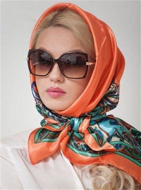 hairstyles scarves shawls 1 انواع مدل مو زیر شال و روسری