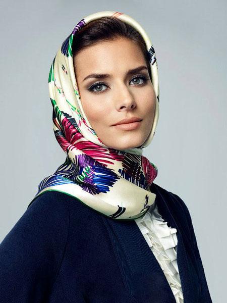 hairstyles scarves shawls 2 انواع مدل مو زیر شال و روسری