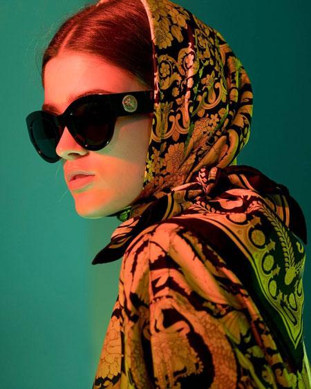 hairstyles scarves shawls 5 انواع مدل مو زیر شال و روسری