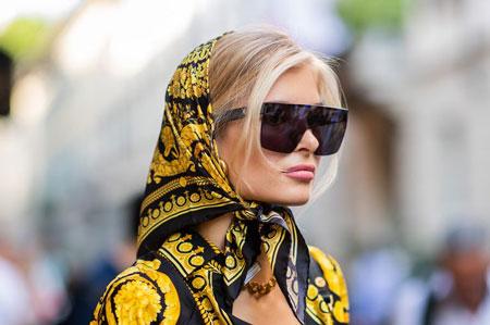 hairstyles scarves shawls 9 انواع مدل مو زیر شال و روسری