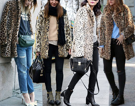 leopard1 coat2 model1 شیک ترین مدل های پالتو پلنگی