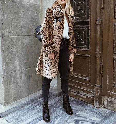 leopard1 coat2 model10 شیک ترین مدل های پالتو پلنگی