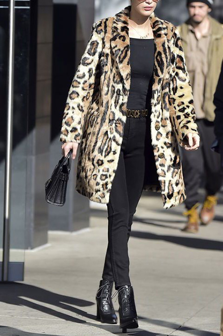 leopard1 coat2 model12 شیک ترین مدل های پالتو پلنگی