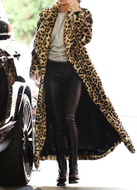 leopard1 coat2 model15 شیک ترین مدل های پالتو پلنگی