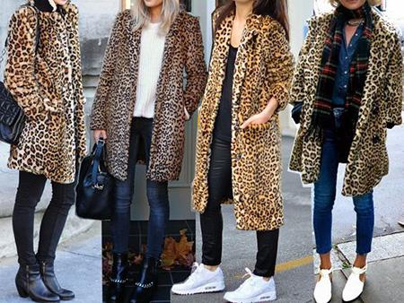 leopard1 coat2 model2 شیک ترین مدل های پالتو پلنگی