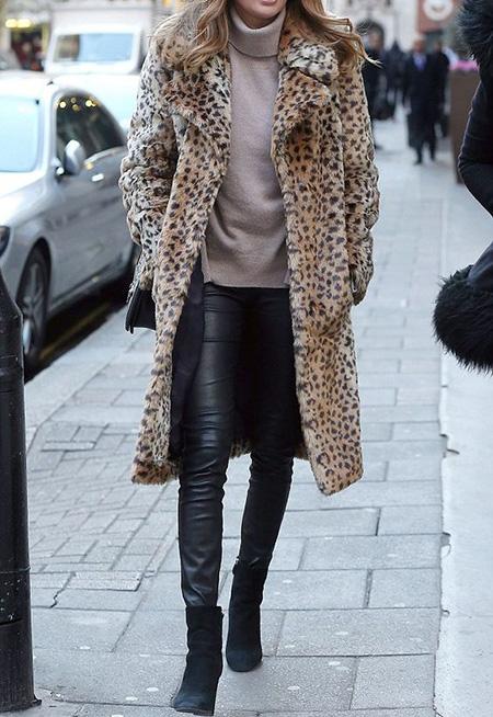 leopard1 coat2 model4 شیک ترین مدل های پالتو پلنگی