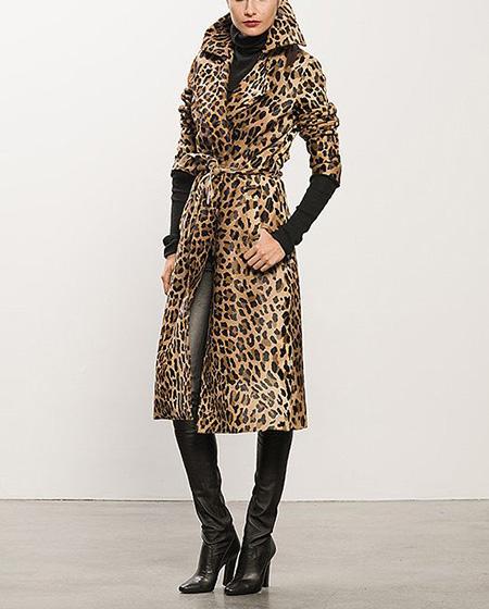 leopard1 coat2 model6 شیک ترین مدل های پالتو پلنگی