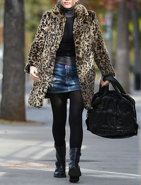 leopard1 coat2 model9 شیک ترین مدل های پالتو پلنگی