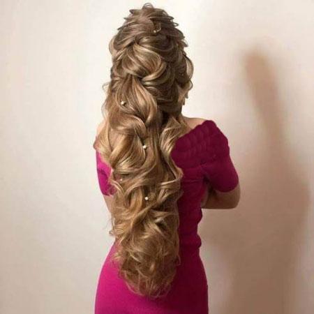 آرایش موی بلند ,آرایش موی بلند زنانه,مدل موی ساده برای موهای بلند