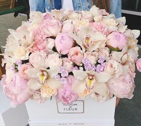 جدیدترین باکس های گل خواستگاری, ایده هایی برای باکس گل, باکس گل برای خواستگاری
