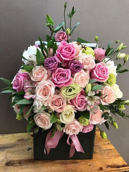 باکس گل برای خواستگاری, باکس گل مناسب خواستگاری, باکس گل های ویژه ی مراسم خواستگاری