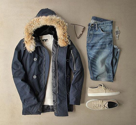 men1 winter2 set2 jacket6 ست زمستانی مردانه با کاپشن