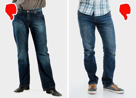 راهنمای لباس پوشیدن آقایان, اشتباهاتی برای لباس پوشیدن آقایان