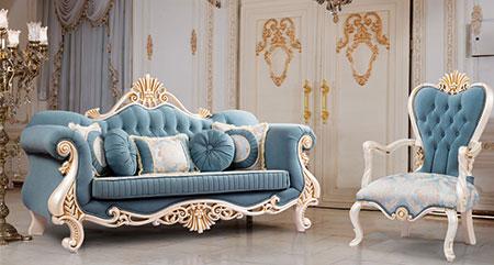 مبل آبی کمرنگ,مبل آبی سلطنتی