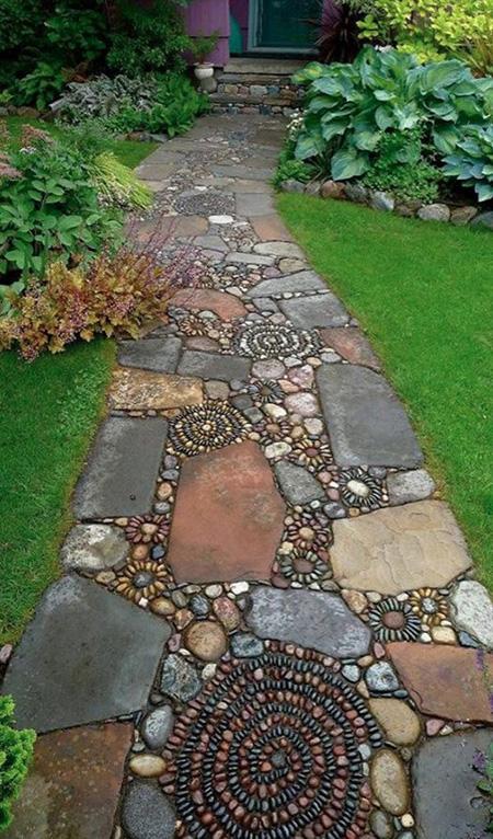 سنگ فرش,سنگ فرش باغ دكوراسيون