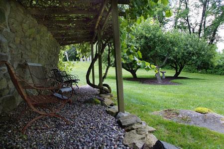 سنگ فرش باغ,سنگ فرش حیاط