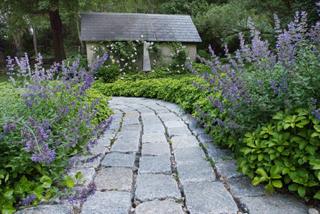 تزیین باغ با سنگ,کف باغ