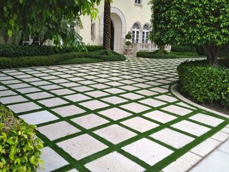 کف حیاط سنتی,نمای سنگ فرش ویلا