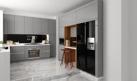 مدل کابینت هایگلاس,طراحی کابینت آشپزخانه
