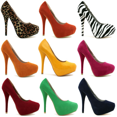 ست کردن کفش های پاشنه بلند رنگی, روش ست کردن کفش های پاشنه بلند رنگی
