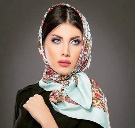 مدل شال بستن,بستن روسری مجلسی